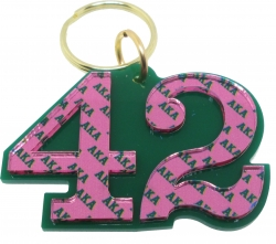 View Buying Options For The Alpha Kappa Alpha Color Mirror Line #42 Keychain