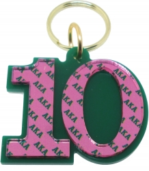 View Buying Options For The Alpha Kappa Alpha Color Mirror Line #10 Keychain