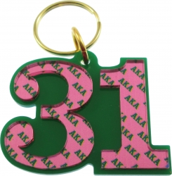 View Buying Options For The Alpha Kappa Alpha Color Mirror Line #31 Keychain