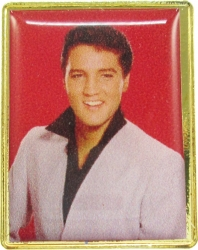 View Buying Options For The Elvis Presley In White Jacket Photo Epoxy Lapel Pin