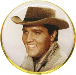 View Buying Options For The Elvis Presley Cowboy Hat Photo Epoxy Lapel Pin