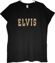 View Buying Options For The Elvis Presley Gold Satin Rhinestone Ladies Tee