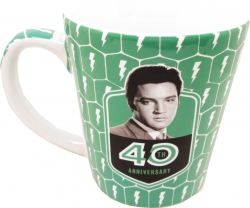 View Buying Options For The Elvis Presley 40th Anniversary Teal Latte/Coffee Mug