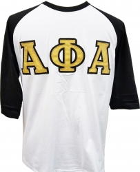 View Buying Options For The Alpha Phi Alpha Applique Mens Baseball Tee