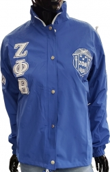 View Buying Options For The Buffalo Dallas Zeta Phi Beta Sorority Crest Ladies All-Weather Windbreaker Jacket