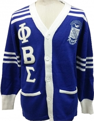 View Buying Options For The Buffalo Dallas Phi Beta Sigma Fraternity Mens Cardigan Sweater