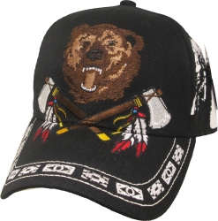 View Buying Options For The Native Pride Bear w/Axes Shadow Mens Cap
