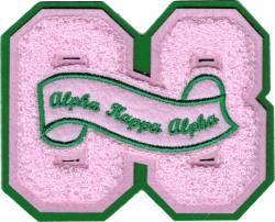 View Buying Options For The Alpha Kappa Alpha 08 Founded Year Chenille Felt Sew-On Patch