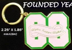 View Buying Options For The Alpha Kappa Alpha 08 Founded Year Key Chain