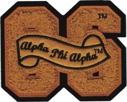 View Buying Options For The Alpha Phi Alpha 06 Founded Year Chenille Felt Sew-On Patch