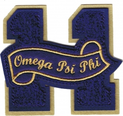 View Buying Options For The Omega Psi Phi 11 Founded Year Chenille Felt Sew-On Patch