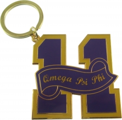 View Buying Options For The Omega Psi Phi 11 Founded Year Key Chain