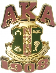 View Buying Options For The Alpha Kappa Alpha 3D Crest Lapel Pin