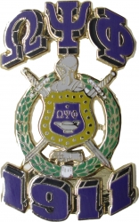 View Buying Options For The Omega Psi Phi 3D Shield Lapel Pin