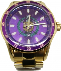 View Buying Options For The Omega Psi Phi Fraternity Shield Colored Face Quartz Mens Watch