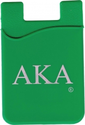 View Buying Options For The Alpha Kappa Alpha Cell Phone Silicone Card Holder