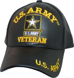 View Buying Options For The U.S. Army Veteran Star PU Leather Mens Cap