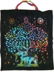 View Buying Options For The Elephant Tree of Life Tie Dye Tote Bag