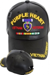 View Buying Options For The Purple Heart Vietnam Veteran Shadow PU Leather Mens Cap