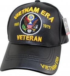 View Buying Options For The Vietnam Era Veteran U.S. Eagle Logo PU Leather Mens Cap