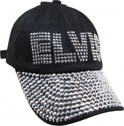 View Buying Options For The Elvis Presley Rhinestone Bling Relaxed Ladies Cap
