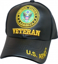 View Buying Options For The U.S. Army Veteran PU Leather Mens Cap