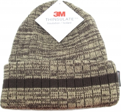 View Buying Options For The Striped Chunky Mixed Knit Thinsulate Insulated Cuff Mens Beanie Cap