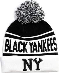 View Buying Options For The New York Black Yankees Mens Beanie with Ball