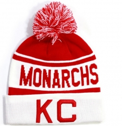 View Buying Options For The Kansas City Monarchs Mens Beanie with Ball