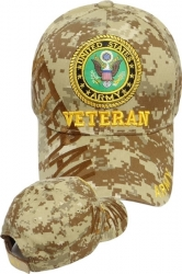 View Buying Options For The Army Veteran Text Shadow Mens Cap