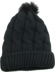 View Buying Options For The Chunky Twisted Knit Design Fur Pom Insulated Mens Beanie Cap