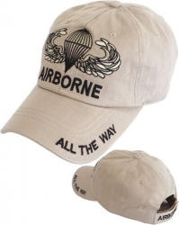 View Buying Options For The 82nd Airborne Wings All The Way Tone-On-Tone Relaxed Cotton Mens Cap