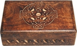 View Buying Options For The Celtic Cross Carved Wood Box