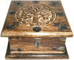 View Buying Options For The Tree of Life Carved Wood Chest-Style Box with Latch