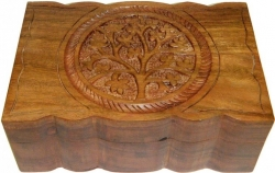 View Buying Options For The Tree of Life Carved Wood Box