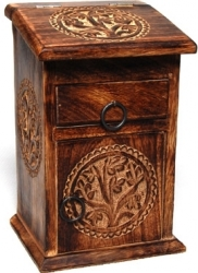 View Buying Options For The Tree of Life Symbols Tall Wood Herb Chest with Drawer
