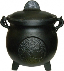 View Buying Options For The Tree of Life Cast Iron Cauldron with Lid