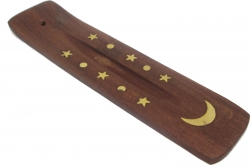 View Buying Options For The Copper Moon and Stars Mini Canoe Incense Stick Burner