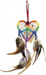 View Buying Options For The Love-Peace Heart Dream Catcher