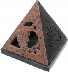 View Buying Options For The New Age Sun & Moon Pyramid Soapstone Incense Cone Burner