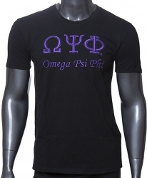 View Buying Options For The Omega Psi Phi 3D Embroidered Signature Mens T-Shirt