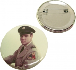 View Buying Options For The Elvis Presley Army Button Pin [Pre-Pack]