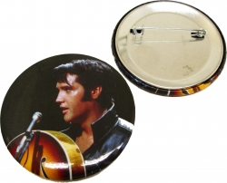 View Buying Options For The Elvis Presley 68 Black Leather Button Pin [Pre-Pack]