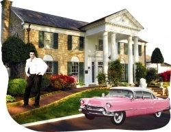 View Buying Options For The Elvis Presley Graceland Pink Caddy Moving Magnet [Pre-Pack]