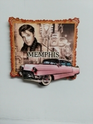 View Buying Options For The Elvis Presley and Pink Caddy Wood Magnet [Pre-Pack]