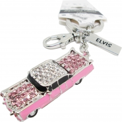 View Buying Options For The Elvis Presley Pink Caddy Rhinestone Keyring