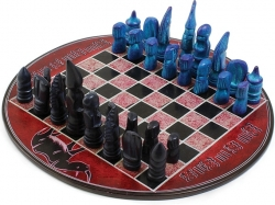View Buying Options For The African Soapstone Round Chess Set