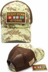 View Buying Options For The Desert Storm Veteran Patch Meshback Mens Cap