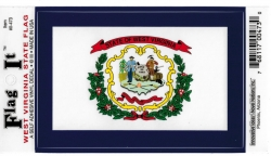 View Buying Options For The West Virginia State Flag Car Decal Sticker [Pre-Pack]