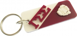 View Buying Options For The Gamma Sigma Sigma Split Symbol Keychain